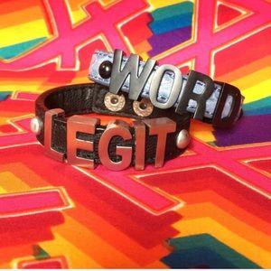 BCBGeneration WORD and LEGIT Bracelets